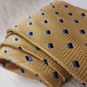 Nautica Gold 100% Silk Men's Work Suit Tie (A192)